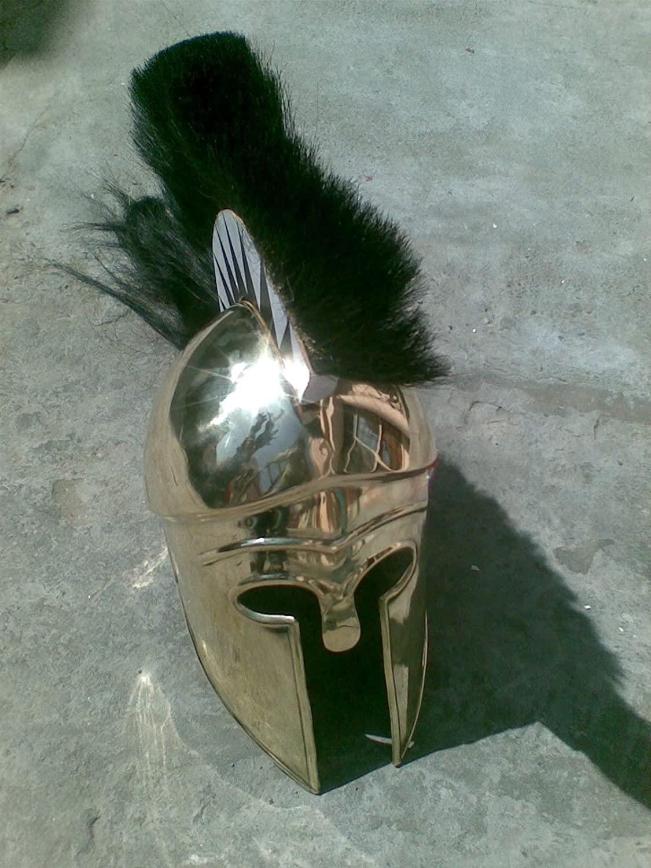NauticalMart Greek Corinthian Helmet with Plume Brass Ancient Helmet Reproduction