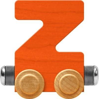 Maple Landmark NameTrain Bright Letter Car Z - Made in USA (Orange)
