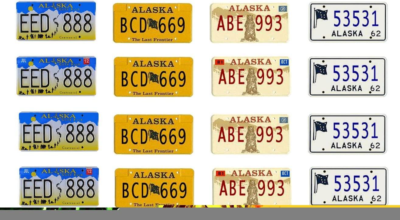 1: 25 scale model car Alaska license tag plates