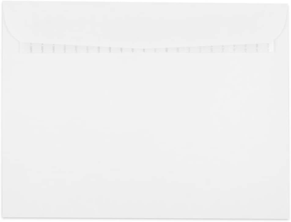 JAM PAPER 9 1/2 x 12 1/2 Booklet Commercial Envelopes with Peel and Seal Closure - White - 50/Pack
