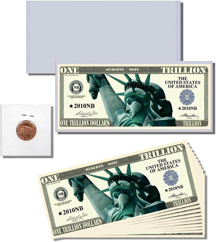 AAC 12pc.One Trillion Dollars Novelty Trillion Dollar Bill Gift Set