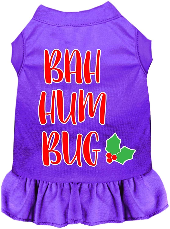 Mirage Pet Product Bah Humbug Screen Print Dog Dress Purple Lg