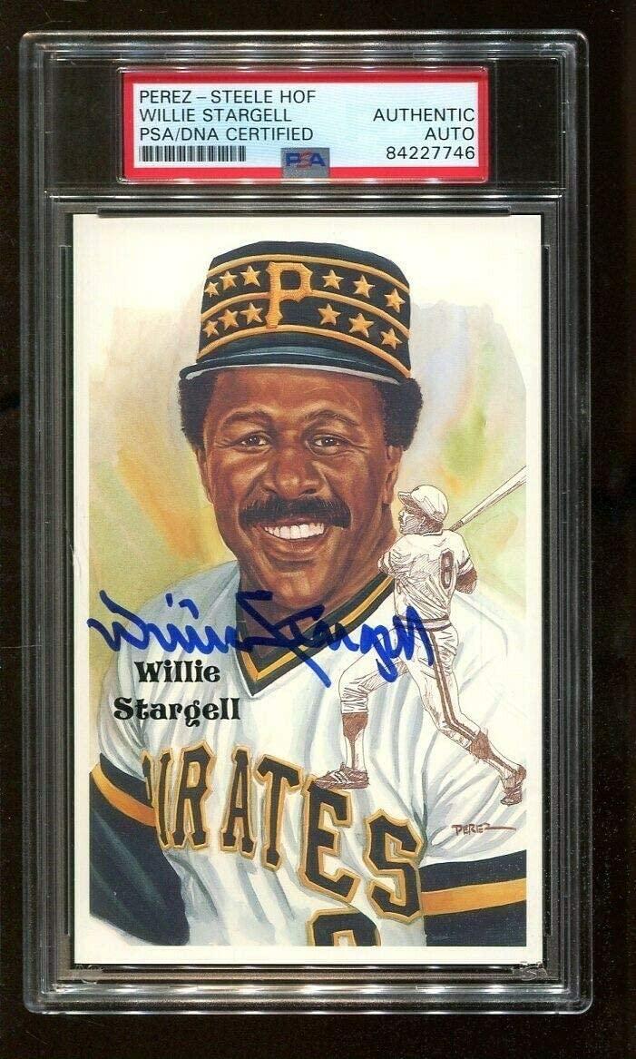 Willie Stargell Autographed Signed Perez-Steele HOF Postcard Autograph Pirates PSA/DNA