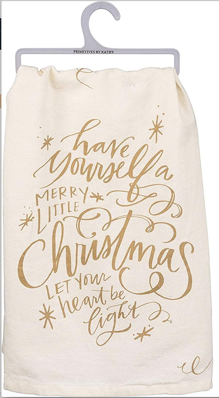 Primitives By Kathy - A Merry Little Christmas - Tea Towel