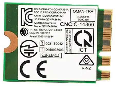 Katigan for MSI GT72/GT80/GS60/GE62/GE72/PE60/PE70 for 13 R2 17 for Killer 1535 Atheros QCNFA364A 802.11Ac NGFF Card