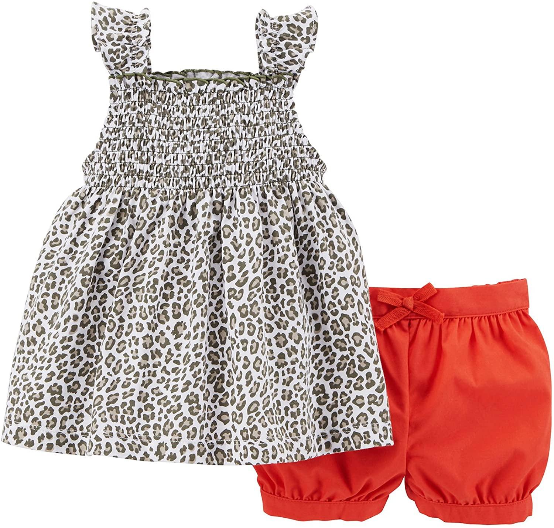 Carter's Baby Girls' 2-Piece Sleeveless Top & Bubble Short Set - 3 Months