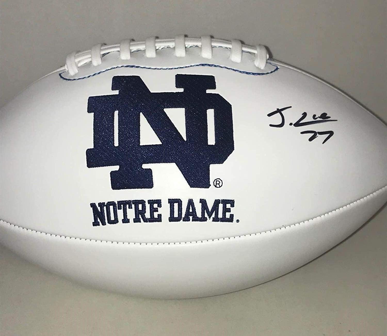 Julian Love signed Notre Dame Fighting Irish F/S Full Size Logo Football Ball - Autographed College Footballs