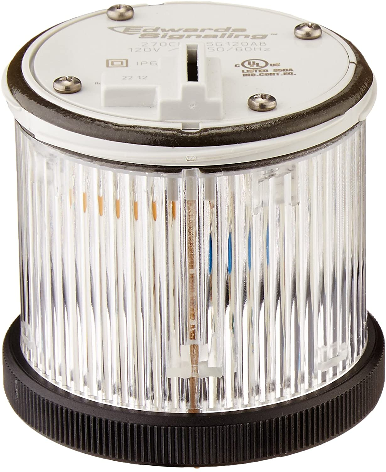 Edwards Signaling 270CLEDSG120AB ClearView Stacklight, 70mm