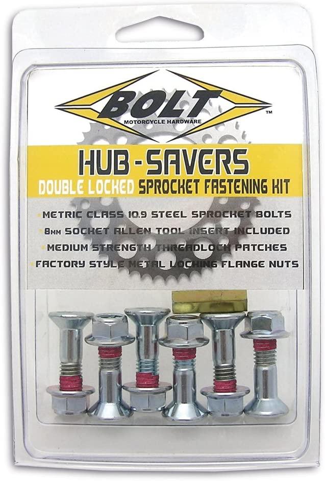 Bolt Motorcycle Hardware (2008-HS.S) Silver Hub-Savers Sprocket Fastener