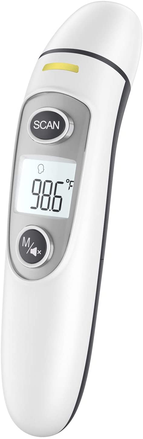 Touchless Thermometer for Adults,Forehead and Ear Thermometer for Fever, Babies, Children, Adults, Indoor and Outdoor Use