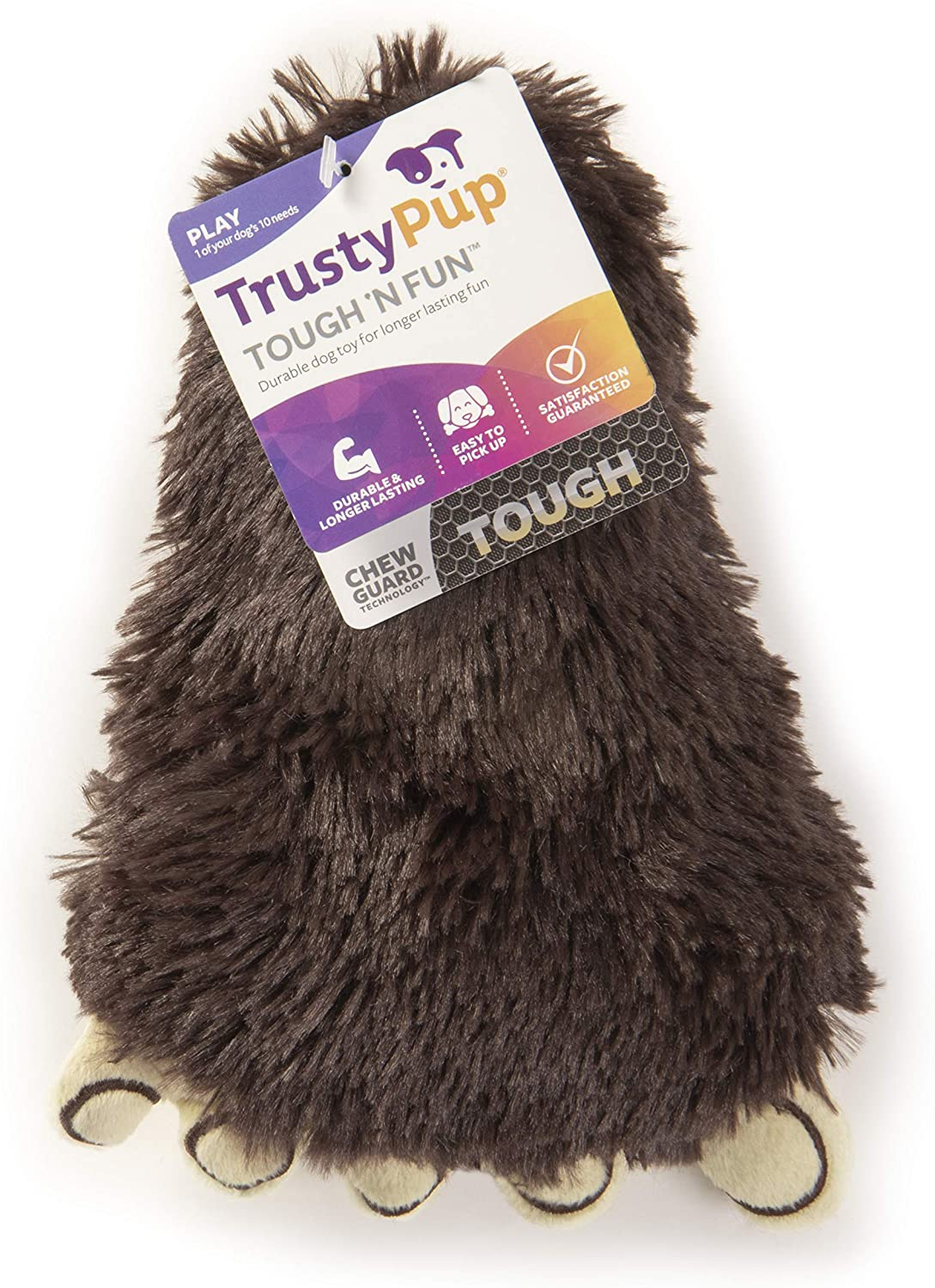 TrustyPup Feet with Chew Guard Technology Durable Plush Dog Toys with Squeakers