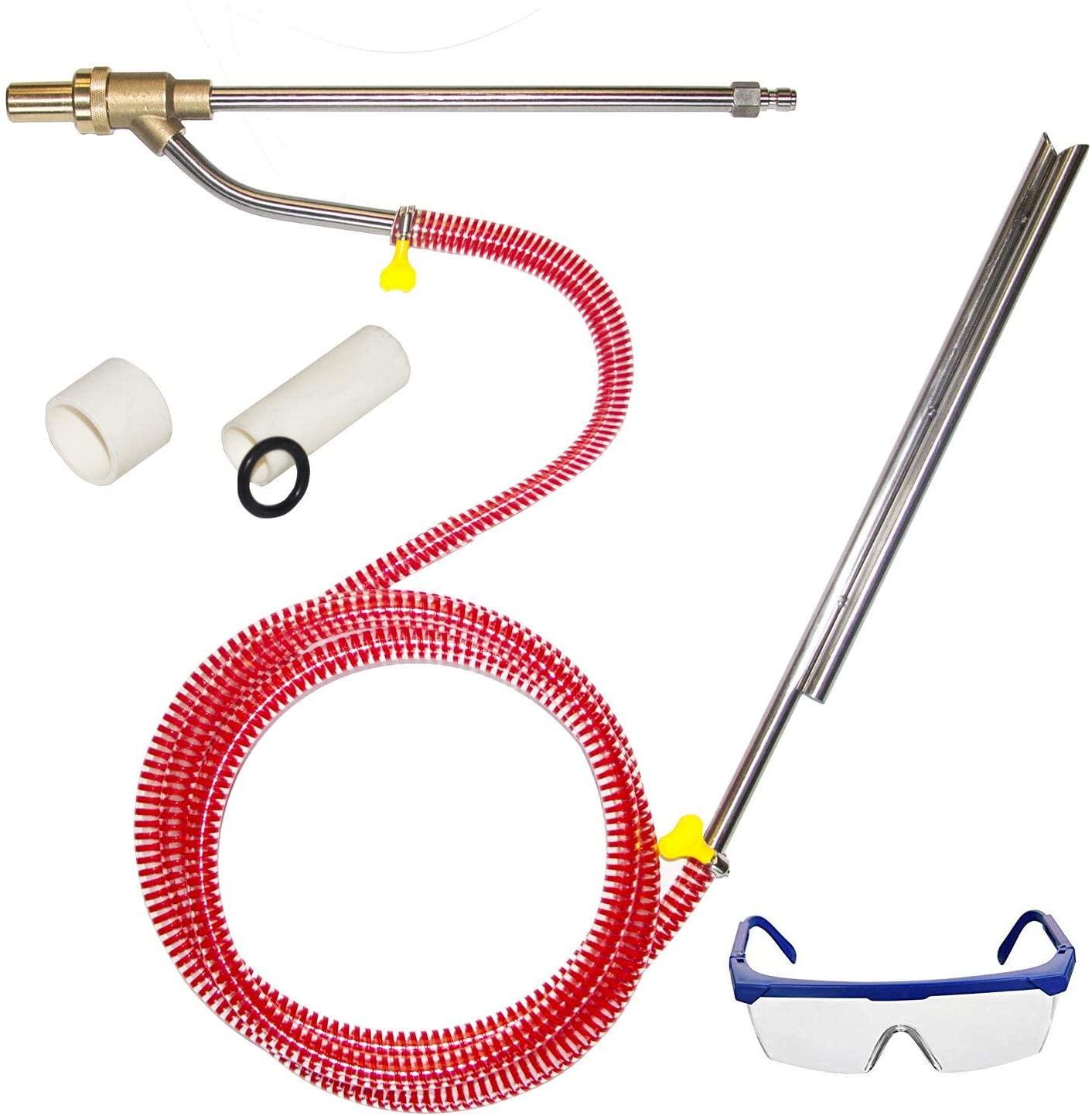 Hourleey Pressure Washer Sandblasting Kit, Dustless Sand Blasting Kit Wet Sandblaster Attachment, 1/4 Inch Quick Disconnect, 5000 PSI