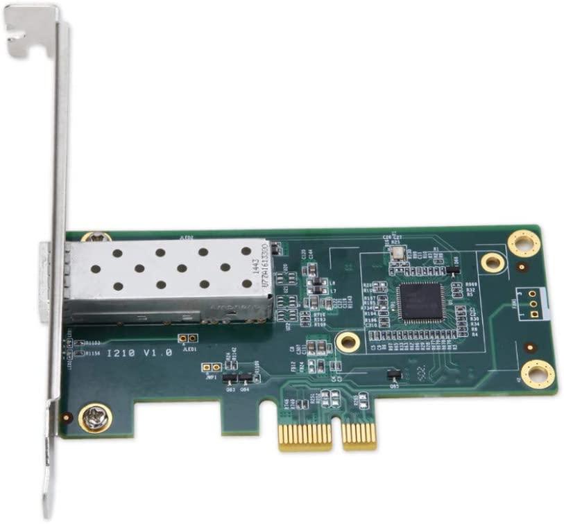 MEO Network Card Intel I210 PCIe Gigabit Single SFP Fiber Network LAN Card