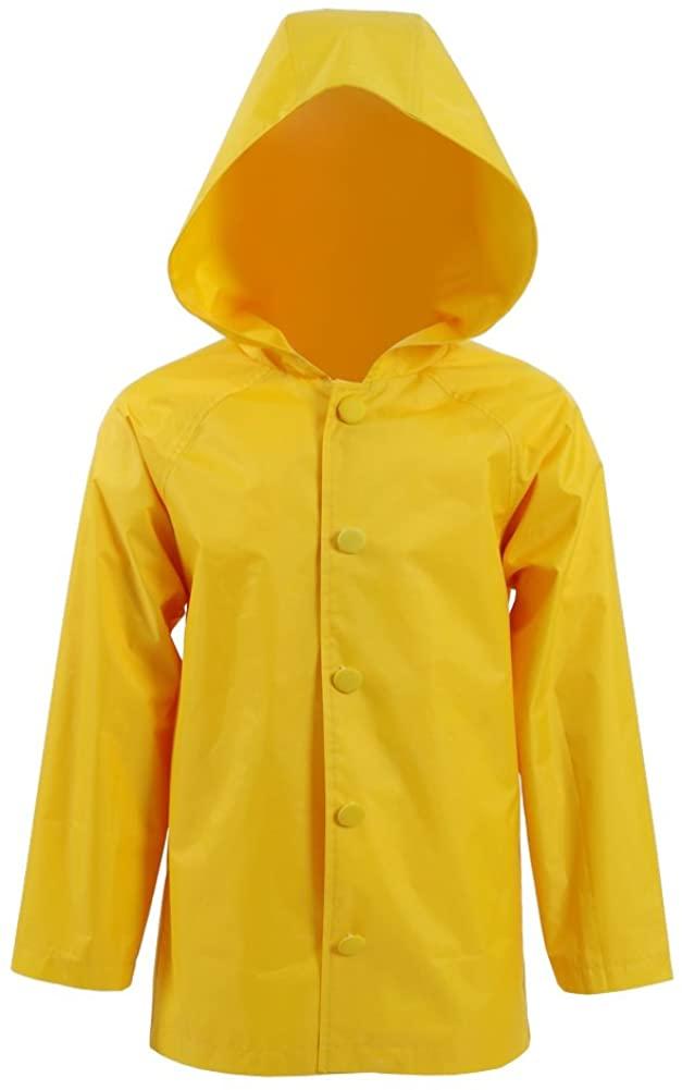 Star Flower Big Boys Rain Jacket Coats with Hood Halloween Costume (14, Yellow)
