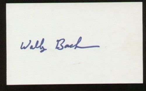 Walter Backman signed autographed 3x5 index card A1102