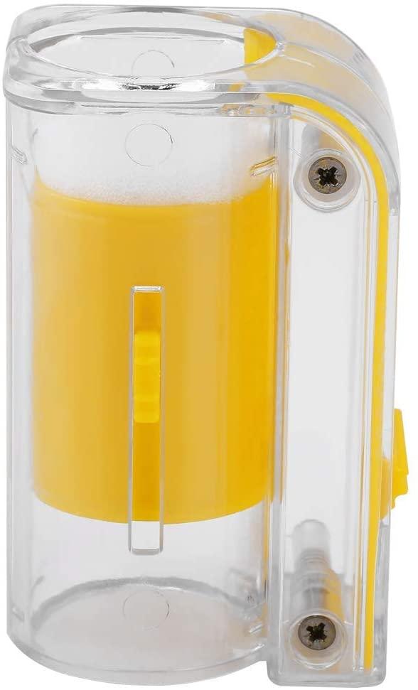 Acogedor Queen Bee Catcher,Bee Queen Marking Catcher Plastic One Handed Marker Bottle Plunger Plush Beekeeper Tool