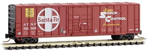 Micro-Trains MTL Z-Scale 50ft Rib Side Plug Door Box Santa Fe/ATSF #521585