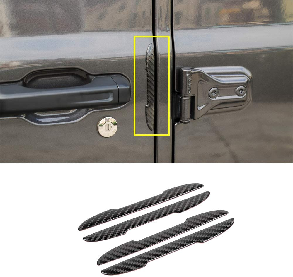 LZTQ for Jeep Wrangler JL 2018 2019 Gladiator JT 2020 Car Door Edge Guard Strip Scratch Protector Anti-Collision Decoration Sticker Car External Accessories