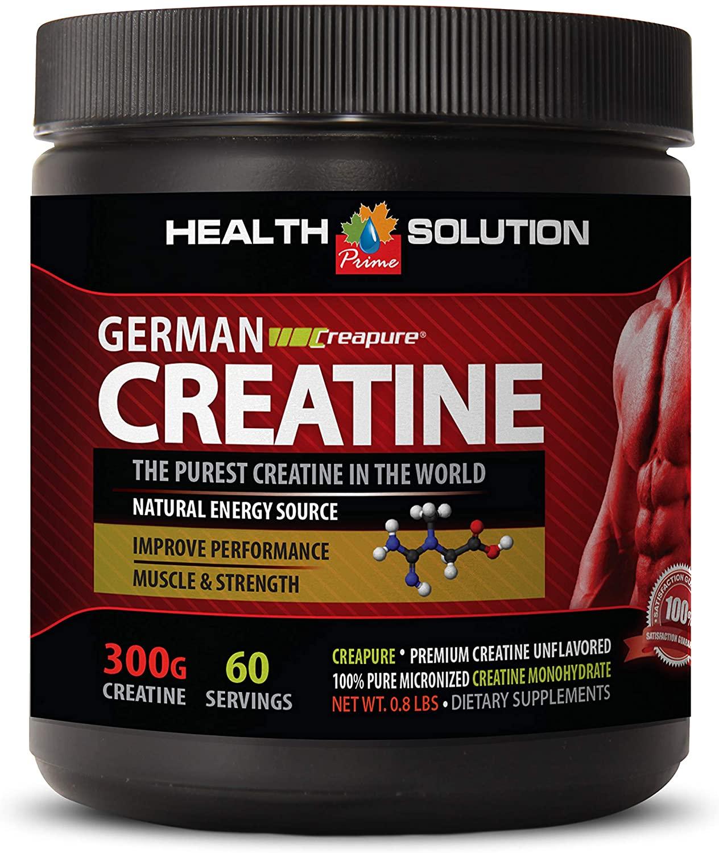 pre Workout Natural Caffeine Free - German CREATINE CREAPURE - Dietary Supplement - German creatine - 1 Can 300 Grams (60 Servings)
