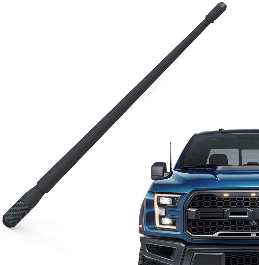 Modonwey 13 Inch Antenna Compatible with Ford F-150 (2009-2020) - Flexible Rubber Car Antenna Accessories - Premium FM/AM Reception