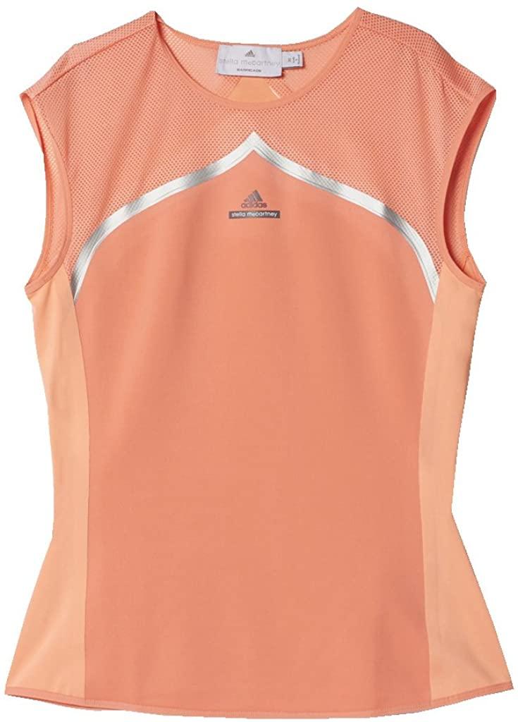 adidas Stella McCartney Women's Tee Australia Coral Pink/Orange - Medium