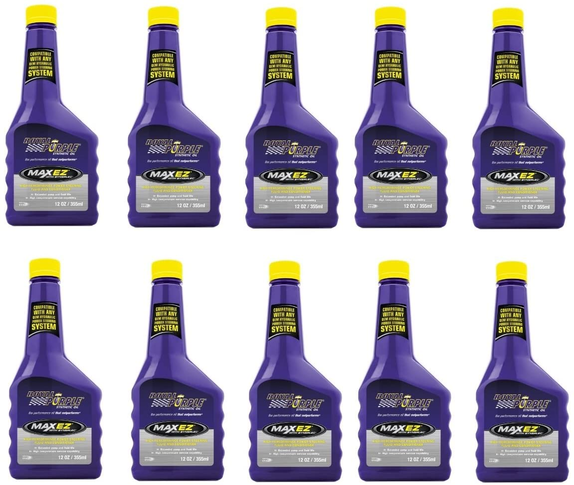 Royal Purple 01326 Case of 10 Max EZ High Performance Synthetic Power Steering Fluid 12 Ounce