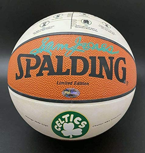 Sam Jones Signed Basketball - Logo LE Boston Celtics Stat HOF - PSA/DNA Certified - Autographed Basketballs