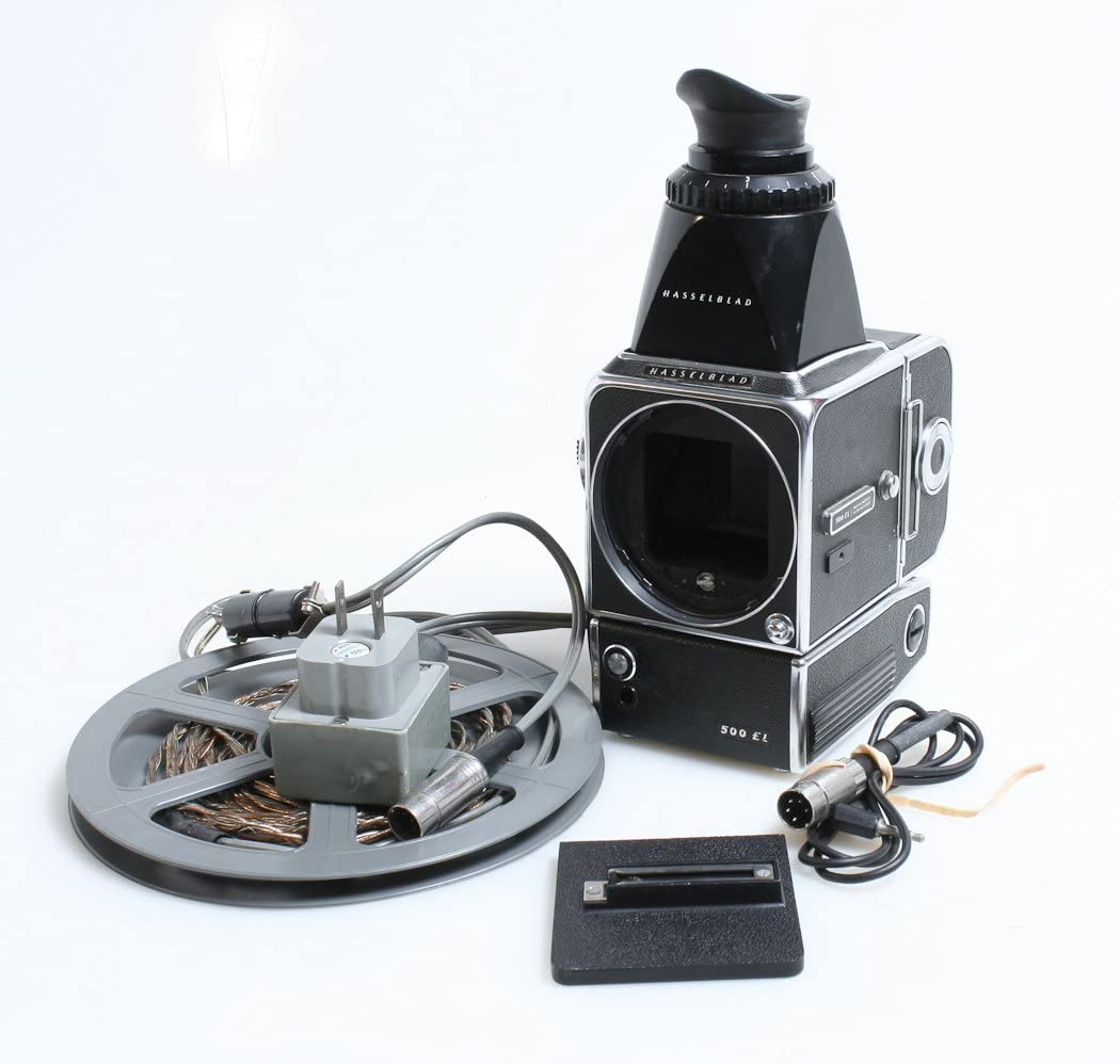 Hasselblad 500EL WITH Power Winder,charging cord,chimney viewfinder