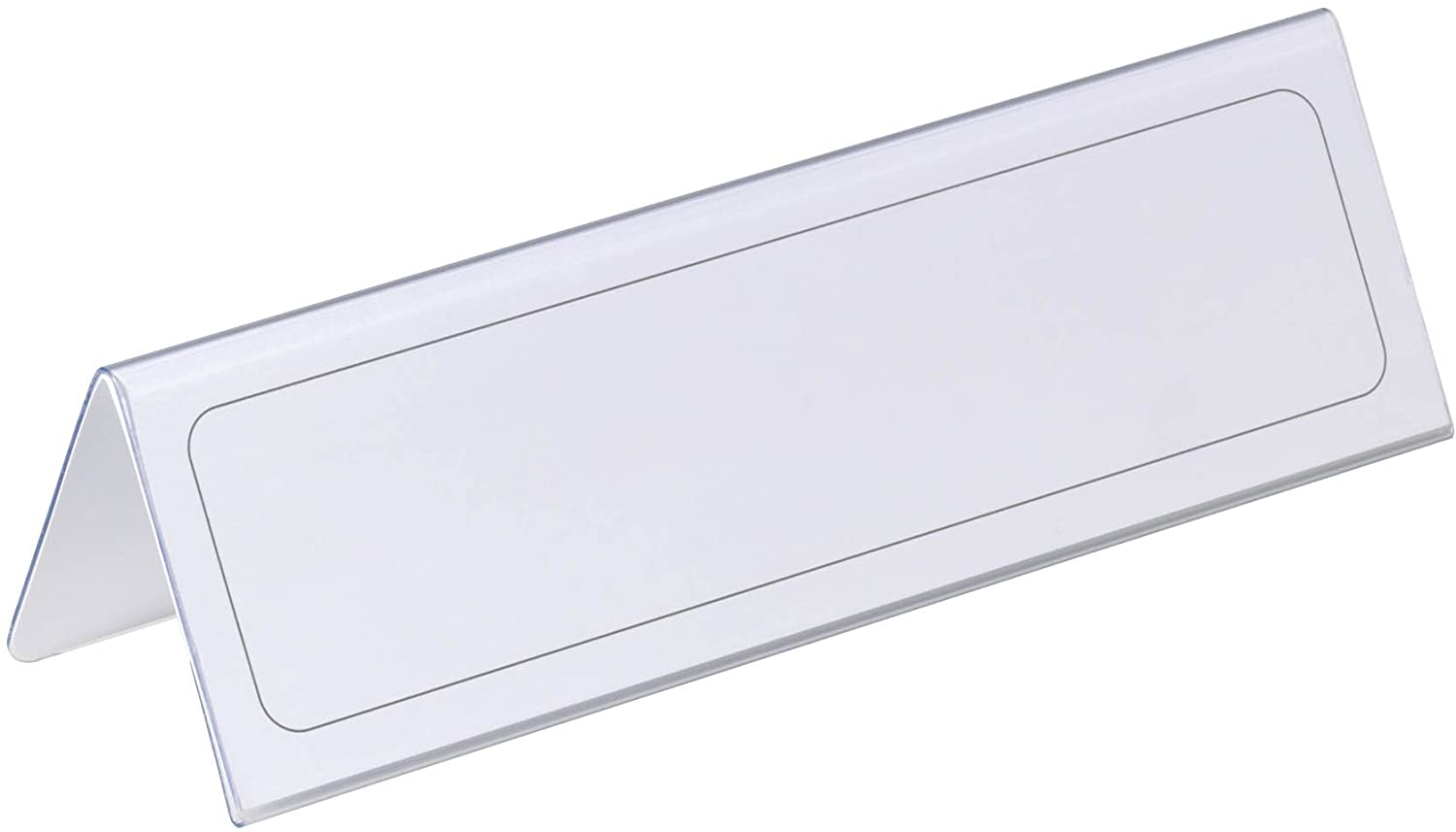 Durable Table Place Name Holder 61x210mm Ref 8052 [Pack of 25]