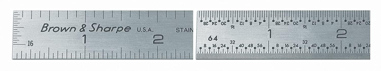 Brown & Sharpe 599-314-1804 Stainless Steel Rule, 18
