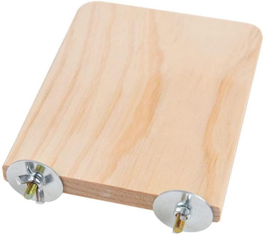 DSstyles Pet Wooden Toy,Chinchilla Hamster Springboard Squirrel Parrot Bird Standing Platform Toy