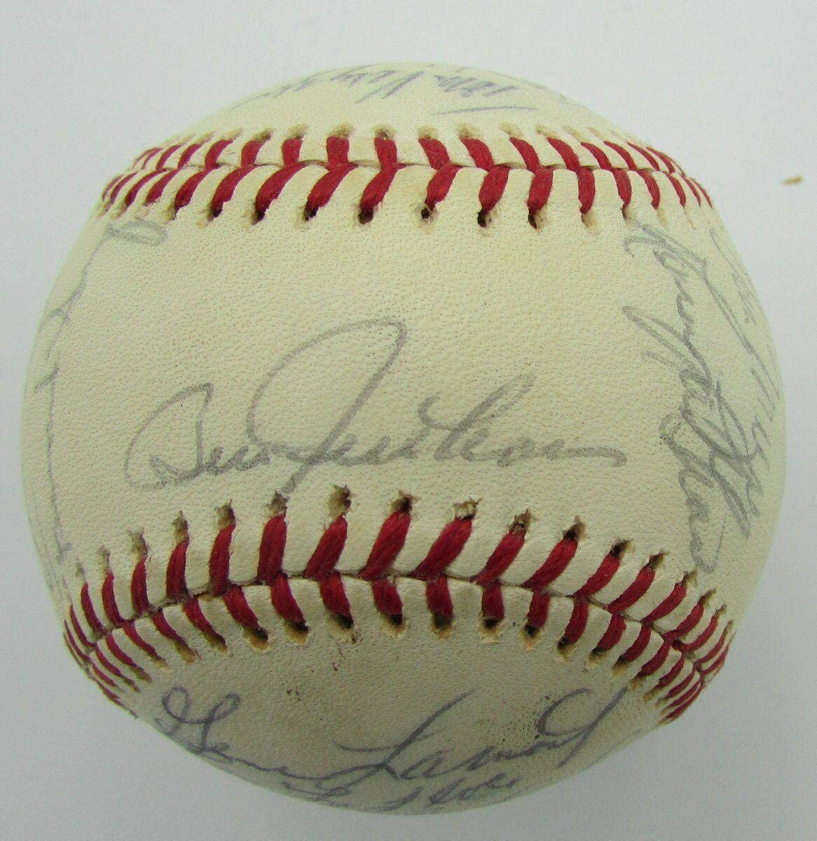 1975 Detroit Tigers Team Signed by 26 OAL Baseball Lolich Brown 149802 - Autographed Baseballs
