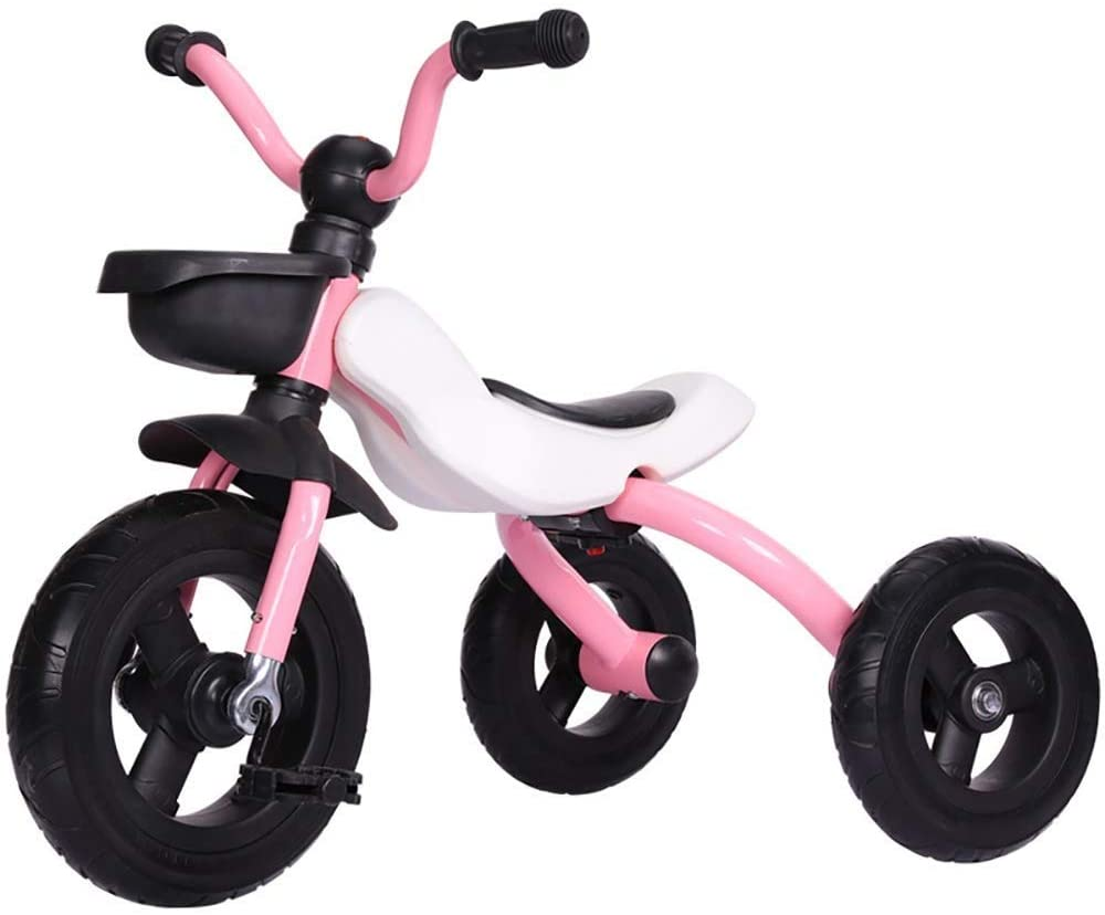 Moolo Trikes for Toddlers 2 in 1 Baby Tricycle Balance Bike Carry Bag Lightweight Folding Riding on Toys Ages 2-4 Years Boys Girl (Color : Pink)