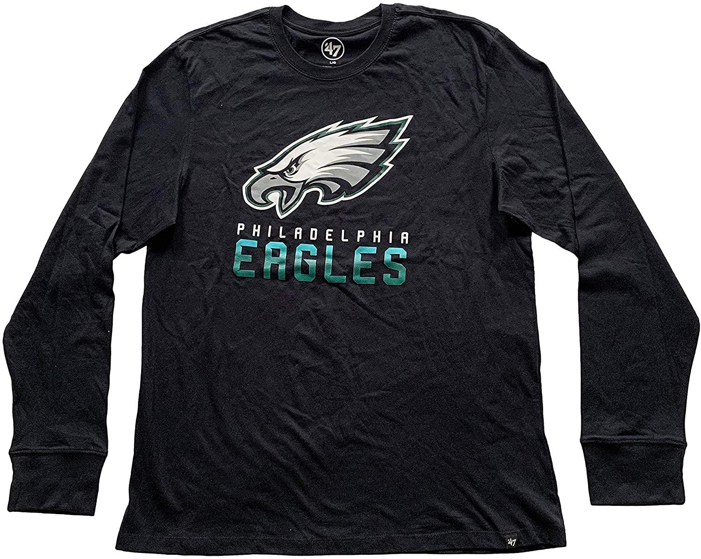 '47 Brand Philadelphia Eagles Men's NFL Long Sleeve T-Shirt 100% Cotton