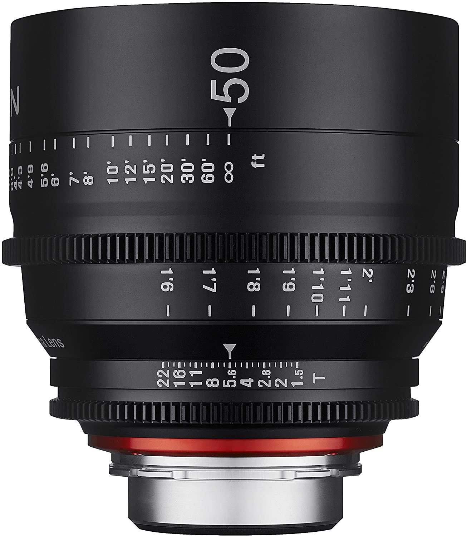 Rokinon Xeen XN50-C 50mm T1.5 Professional Cine Lens for Canon EF,Black