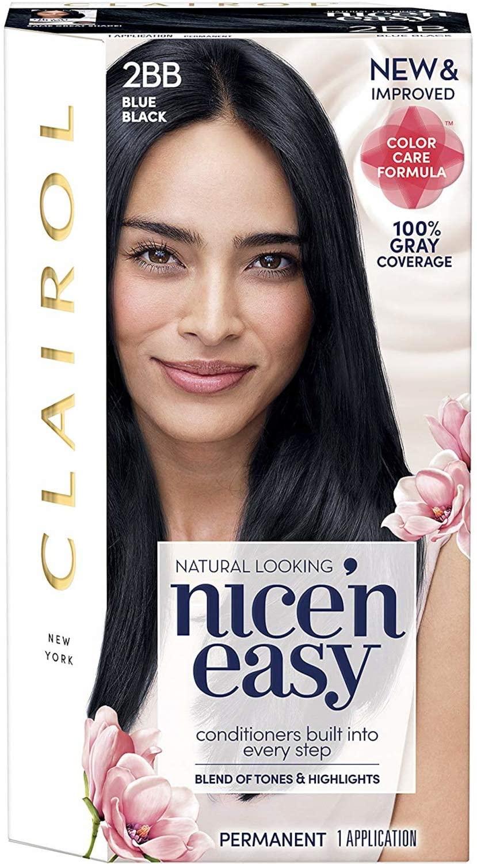 Nice'n Easy [2BB/124] Natural Blue Black Permanent Hair Color 1 ea (Pack of 4)