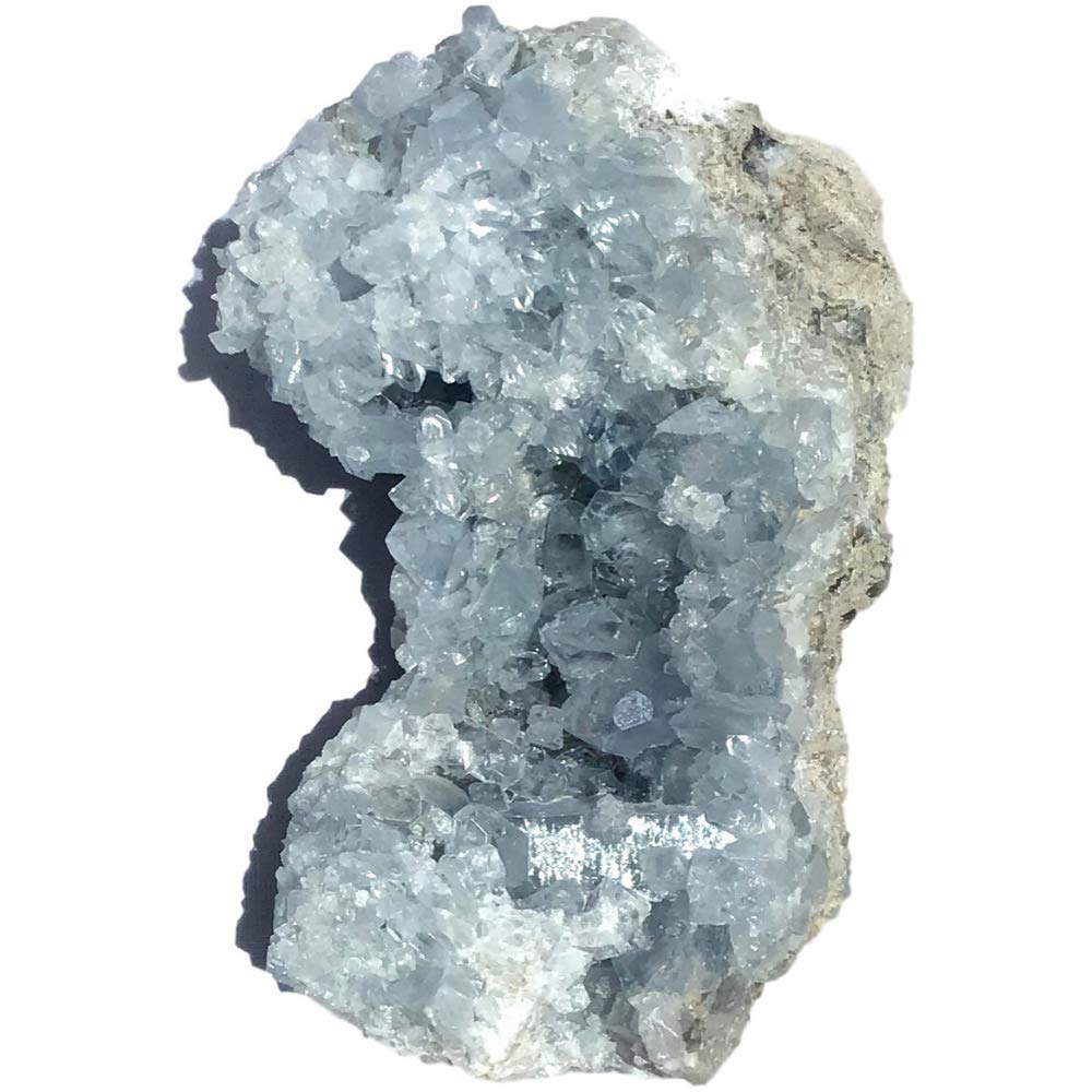 Vivid Sky Blue Celestite Mineral Geode - 4.5