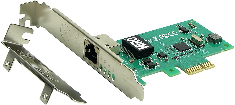 HiRO H50336 Intel 82574L PCIe PCI Express PCI-E x1 Gigabit Ethernet Network Adapter PXE WOL VLAN VMware ESXi Windows 10 plug n play no driver installation needed Windows 8.1 8 7 Compatible