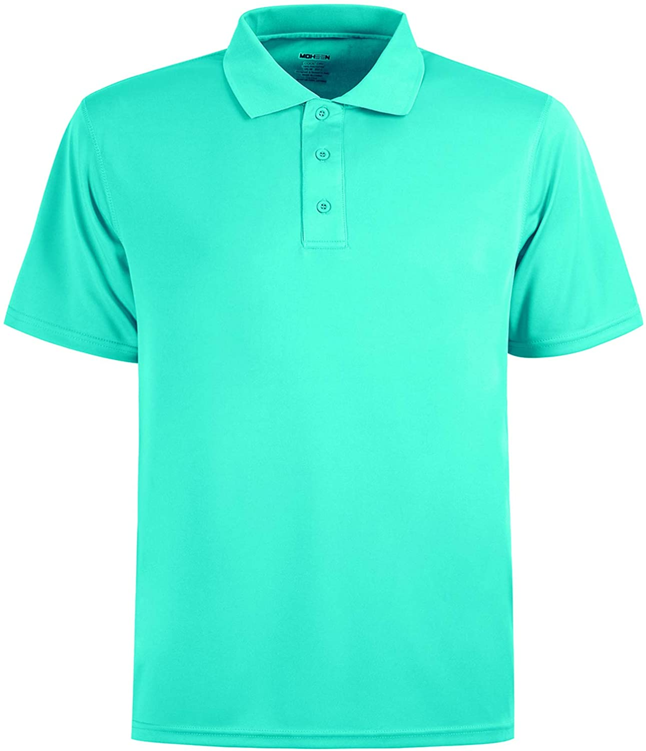 MOHEEN Men's Quick Dry Short Sleeve Polo Shirts UV Protection Outdoor Athletic Golf T-Shirts