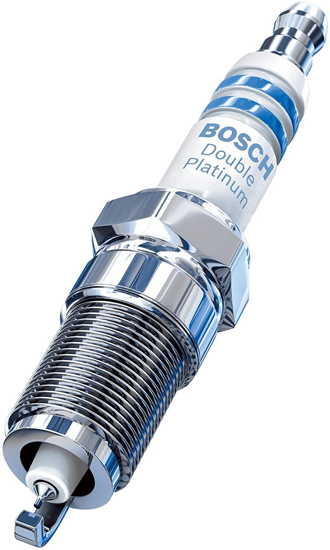 Bosch FR7NPP332 Double Platinum Spark Plug - Up to 3X Longer Life for Select BMW 128i 323i 325i 325xi 328i 328xi 330i 330xi 525i 525xi 528i 528xi 530i 530xi X3 X5 Z4 xDrive and Saab 9-3 (Pack of 1)