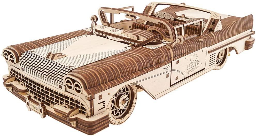 Dream Cabriolet VM-05 Mechanical Model Kit, Wooden 3D Car Puzzle for Self Assembling, Best Men Gift by Ugears