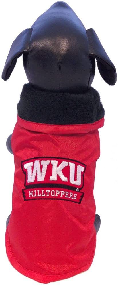 NCAA Western Kentucky Hilltoppers All Weather-Resistant Protective Dog Outerwear, Small