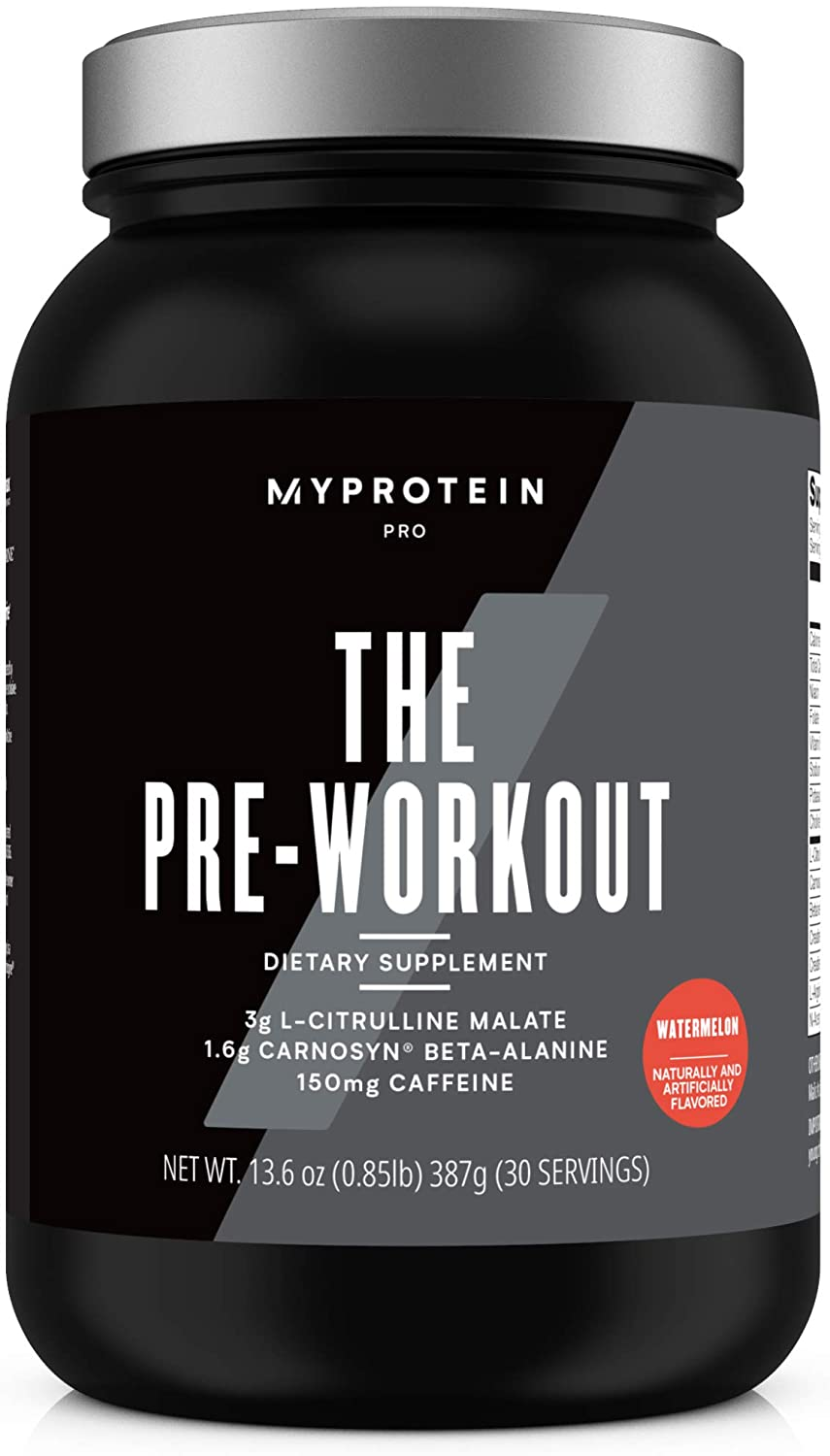Pre Workout with Creatine Mono-Hydrate and Caffeine - 30 Servings - Plus L-Glutamine, BioPerine, AstraGin, Capsimax, TeaCrine - PreWorkout Booster for Energy, Building Muscle, Watermelon