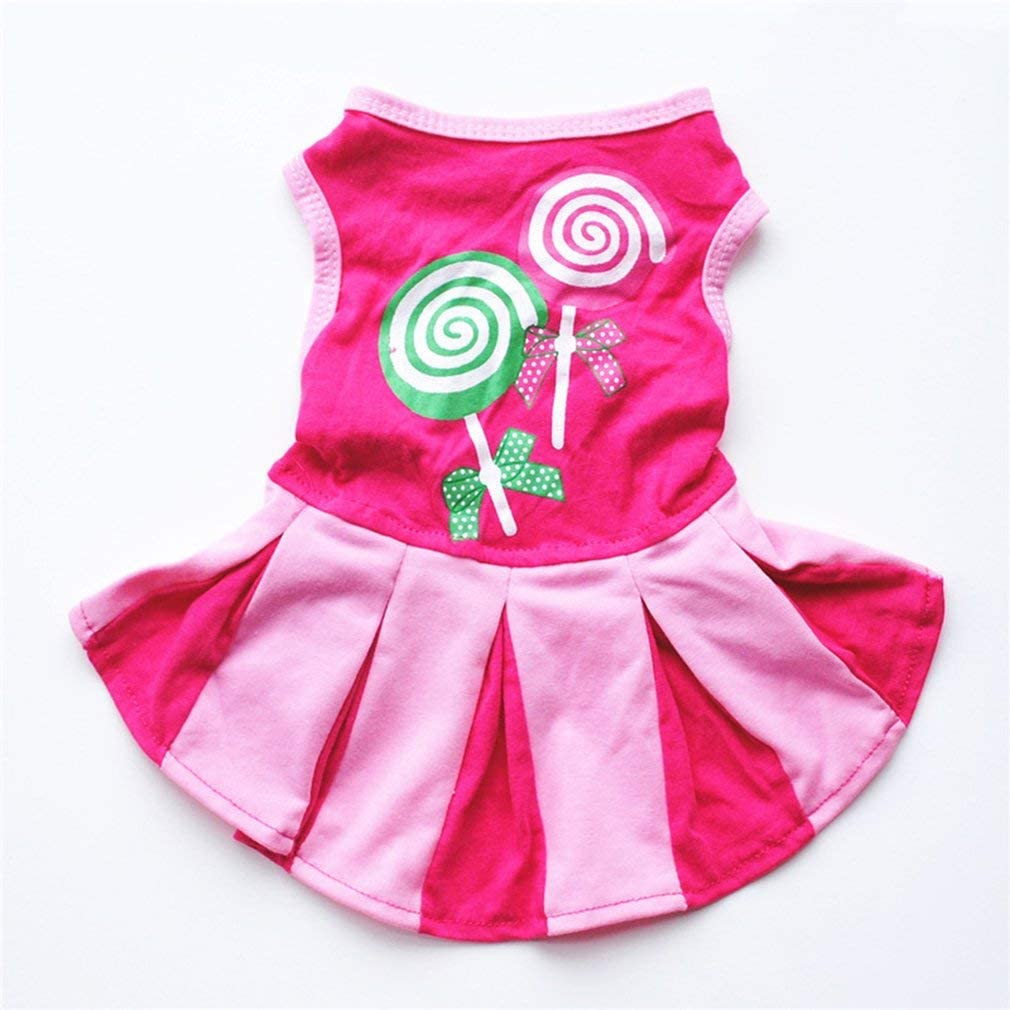 Summer Pet Dog Dress, Stylish Cute Cheerleading Skirt X-S