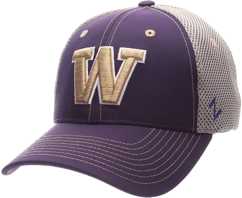 Campus Hats University of Washington Huskies Purple Gold Grey Pregame Adult Mens/Womens Mesh Baseball Hat/Cap Size Medium Large
