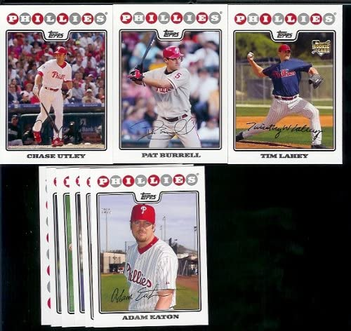 Philadelphia Phillies Baseball Cards - 5 Years Of Topps Team Sets 2004,2005,2006,2007, & 2008 - Includes ALL regular issue Topps Cards For 5 Years - Includes Stars, Rookie Cards & More!