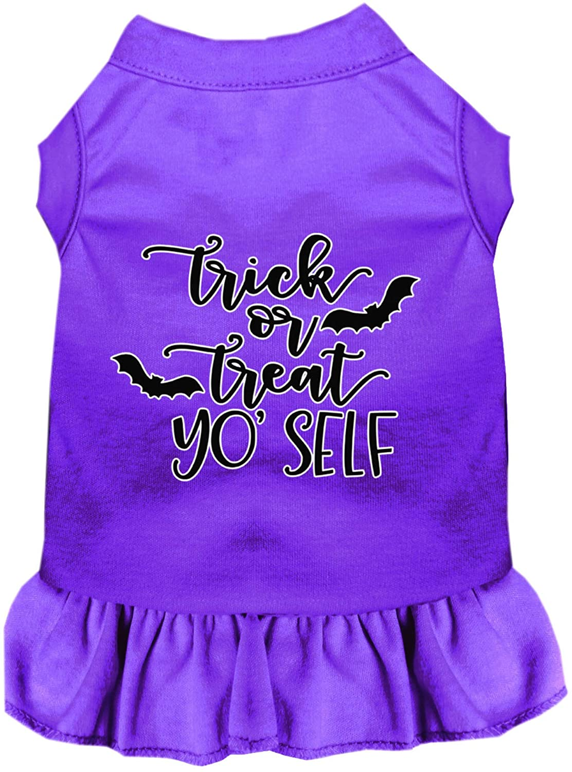 Mirage Pet Product Trick or Treat Yo' Self Screen Print Dog Dress Purple XL