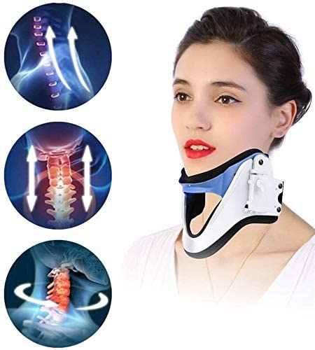 YLD Cervical Neck Traction Device, Adjustable Neck Brace Spine Care Correction Unit Effective Decrease Neck Stress Tension Headache Adjustment Therapy Pain Relief 64