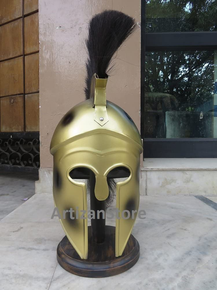 NauticalMart Greek Corinthian Helmet with Black Plume