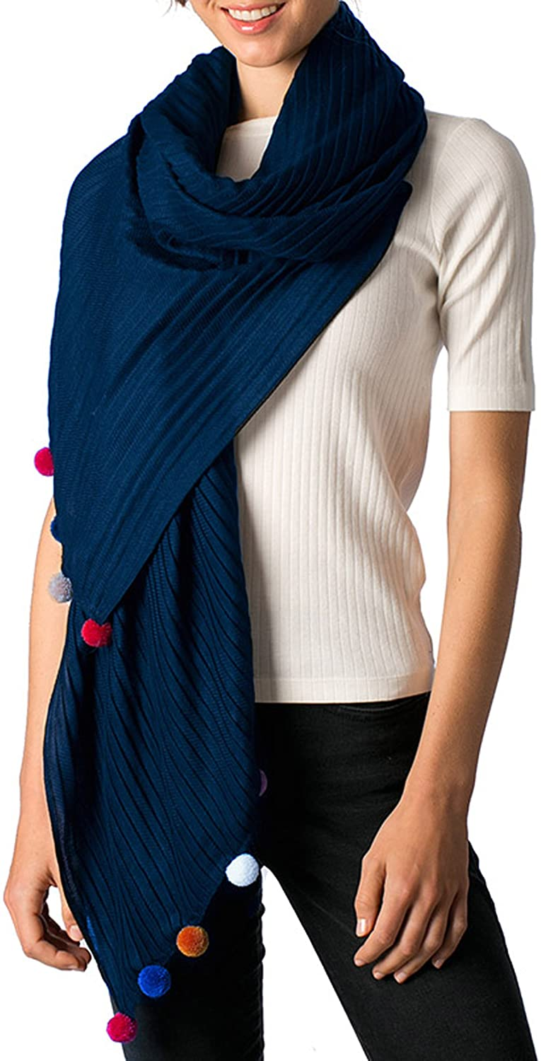 Apparelism Women's Soft Large Pleated Wrap Scarf Shawl Collection.